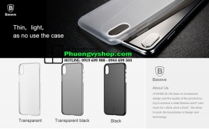 Ốp siêu mỏng Baseus Wing Case iPhone X